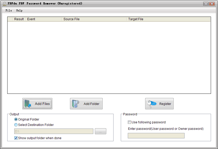 Remove PDF passwords and Restrictions